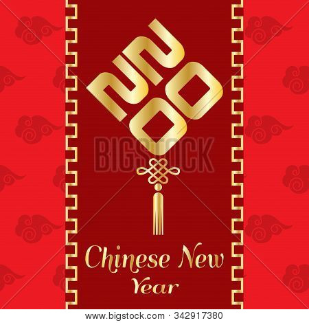 Chinese New Year 2020 Poster - Vector Illustration Design