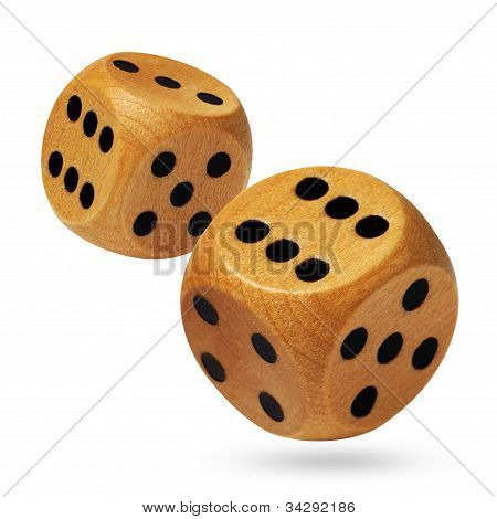 A pair of rolling dices