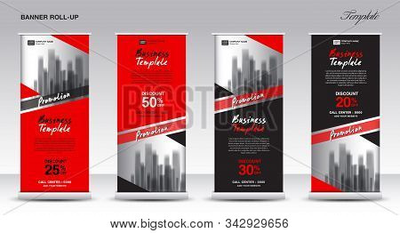 Roll Up Banner Stand Template Design, Promotion Banner Template, X-banner, Pull Up, Advertisement, C