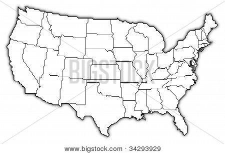 Karta över USA