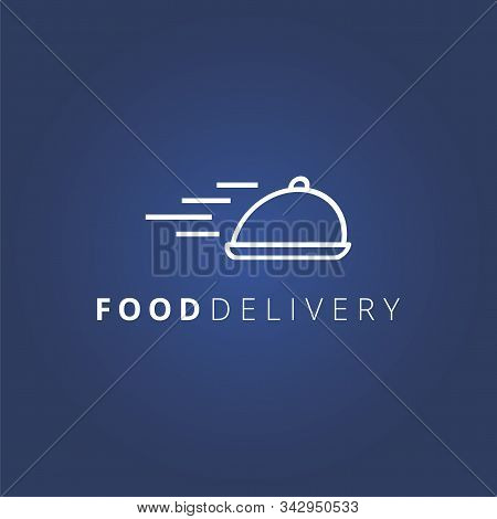 Food Delivery Vector Logo. Food Service, Restaurant And Fast Food. Logo Concept.