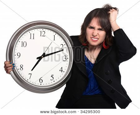 Lady Working Long Hours
