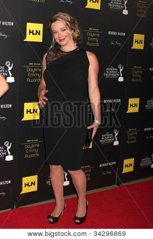 LOS ANGELES - JUN 23:  Jennifer Gareis arrives at the 2012 Daytime Emmy Awards at Beverly Hilton Hotel on June 23, 2012 in Beverly Hills, CA