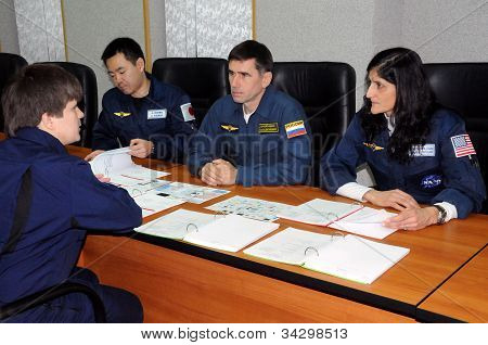 Iss Crew During Training