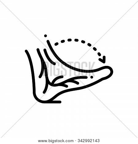 Black Line Icon For Veins Jitters Nerve Vena  Artery