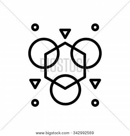 Black Line Icon For Abnormal Unusual  Uncommon Shape Different