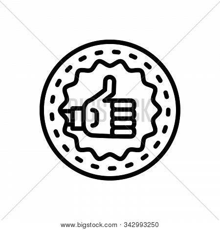 Black Line Icon For Quality Property Merits Attribute Virtue Qualification