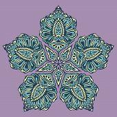 Doodle flower ink pattern-model for design of gift packs, patterns fabric, wallpaper, web sites, etc. poster