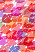 pattern of leaves in red pastelcolours on white background poster