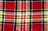 Scot abstract adornment background blue checkered cloth colored poster