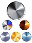 Vector - Metal Buttons. Silver Gold Copper poster