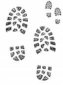 Boot prints. Muddy and clean set for use in your designs poster