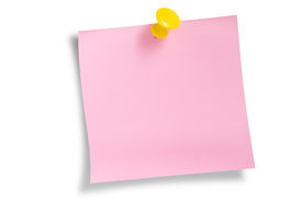 Pink Remainder Note Over White