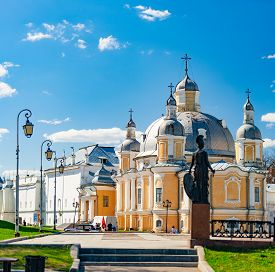 Vologda, Russia - May 11, 2015: Old Vologda Kremlin And Church In Northern Russia, Europe. Ancient F