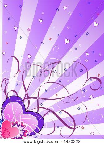St.valentine's Day Magenta Background