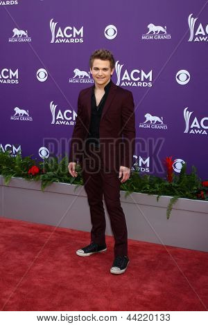 LAS VEGAS - MAR 7:  Hunter Hayes arrives at the 2013 Academy of Country Music Awards at the MGM Grand Garden Arena on March 7, 2013 in Las Vegas, NV
