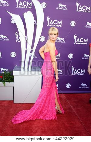 LAS VEGAS - MAR 7:  Beth Behrs arrives at the 2013 Academy of Country Music Awards at the MGM Grand Garden Arena on March 7, 2013 in Las Vegas, NV