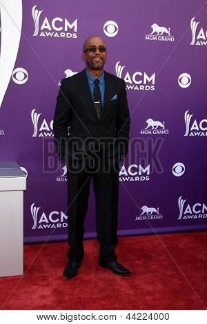 LAS VEGAS - MAR 7:  Darius Rucker arrives at the 2013 Academy of Country Music Awards at the MGM Grand Garden Arena on March 7, 2013 in Las Vegas, NV