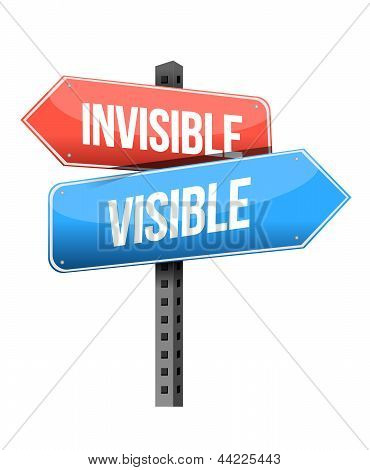 Invisible, Visible Road Sign