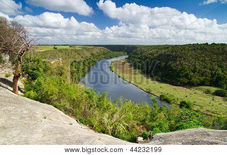 Chavon River in Dominican Republic poster