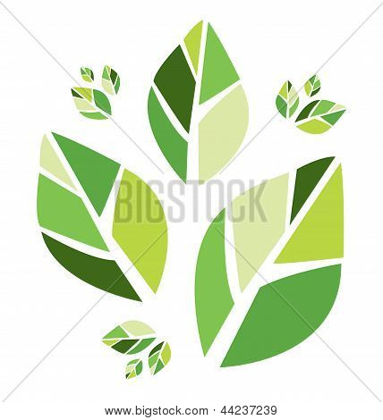 Abstract green leaves