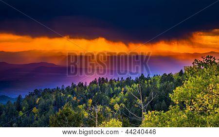 Sunset At Santa Fe Ski Basin