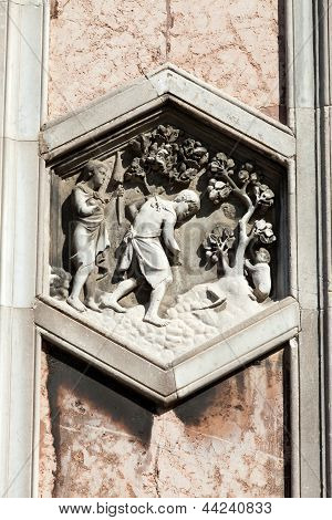 Florence - The hexagonal Relief on the Giottos' Campanile poster