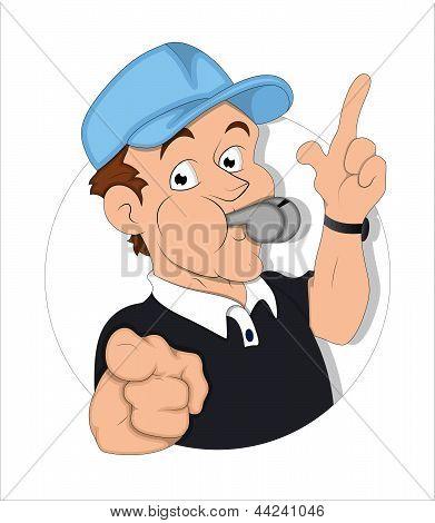 Cartoon Referee Illustration