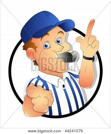 Cartoon Referee
