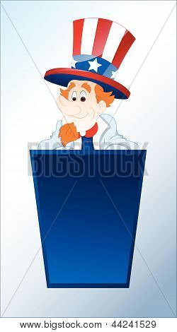 Portrait of Young Uncle Sam