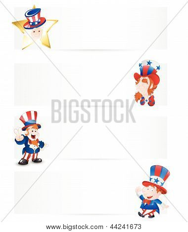 4th of July Patriotic Day Banners