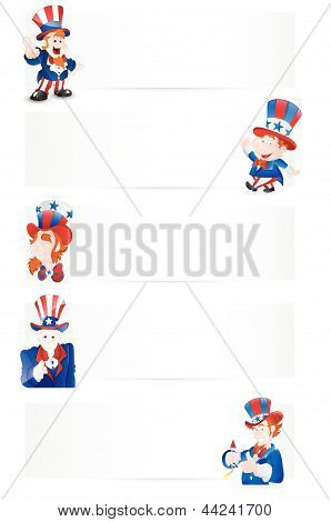 Uncle Sam Vector Banners