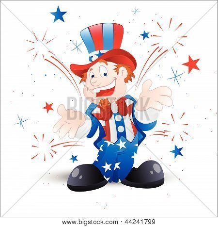 Cheerful Uncle Sam Illustration