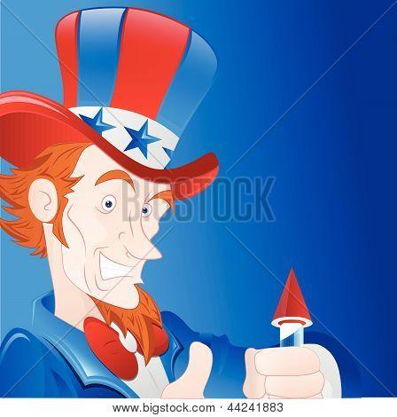Patriotic Man Vector Art