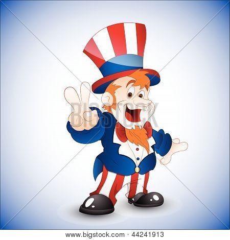 Patriotic Uncle Sam Vector Illustration