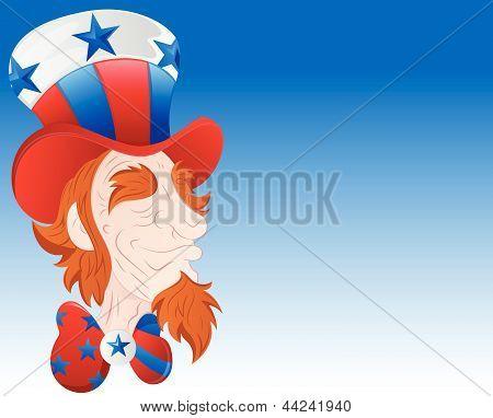 Uncle Sam Face Closeup Vector