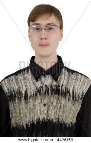 Portrait Of The Young Guy In Spectacles