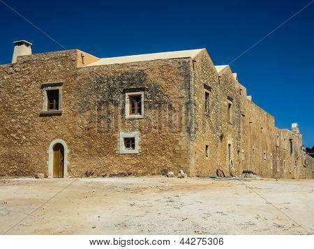 Arkadi monastery at rethymnon Crete island