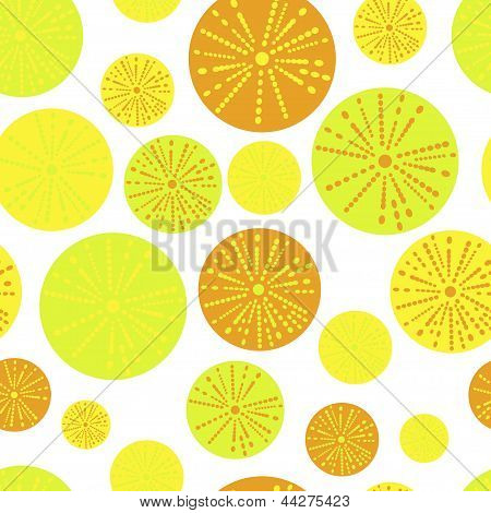 seamless background. flowers and oranges