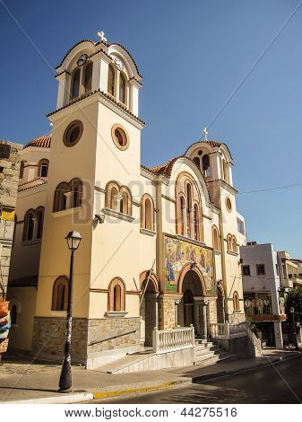 Old Church At Agios Nikolaos Crete Island