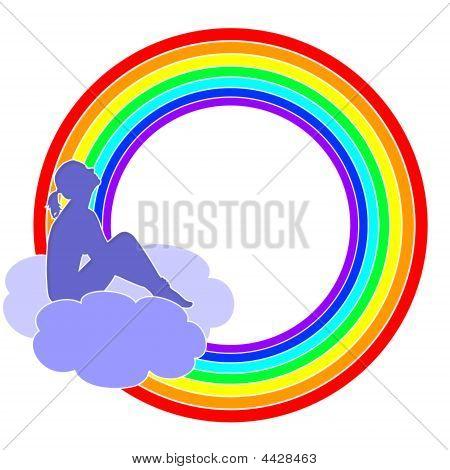 Girl With A Rainbow