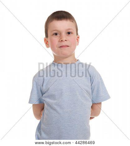 boy posing. isolated on white