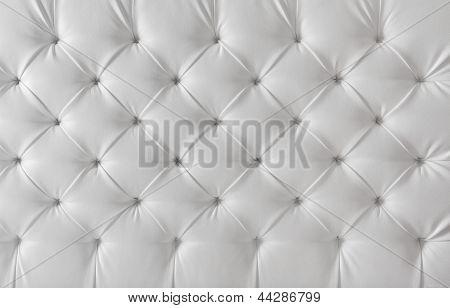 Textura de cuero tapicería sofá blanco, Fondo