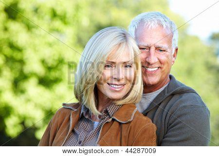 Happy senior Couple Spaß zusammen.