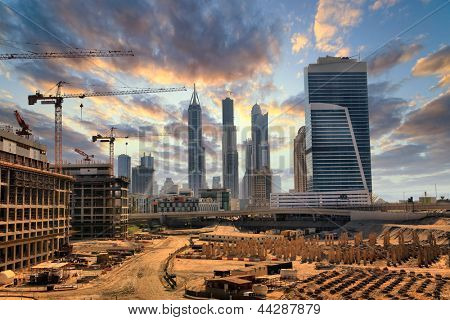 Grandiose construction in Dubai, the United Arab Emirates