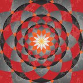 Abstract grunge red-gray pattern like as old circus ring. poster