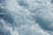 Blue water textures waves foam action mediterranean sea poster