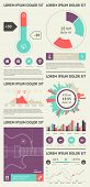 Elements of Infographics with buttons and menus poster