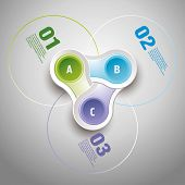 Abstract 3D Infographics with numbers poster