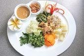 eastern cuisine named gado-gado from java indonesia poster